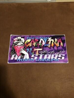 License plate decals Graffiti/purple
