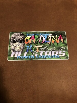 License plate decal Graffiti/Money $$
