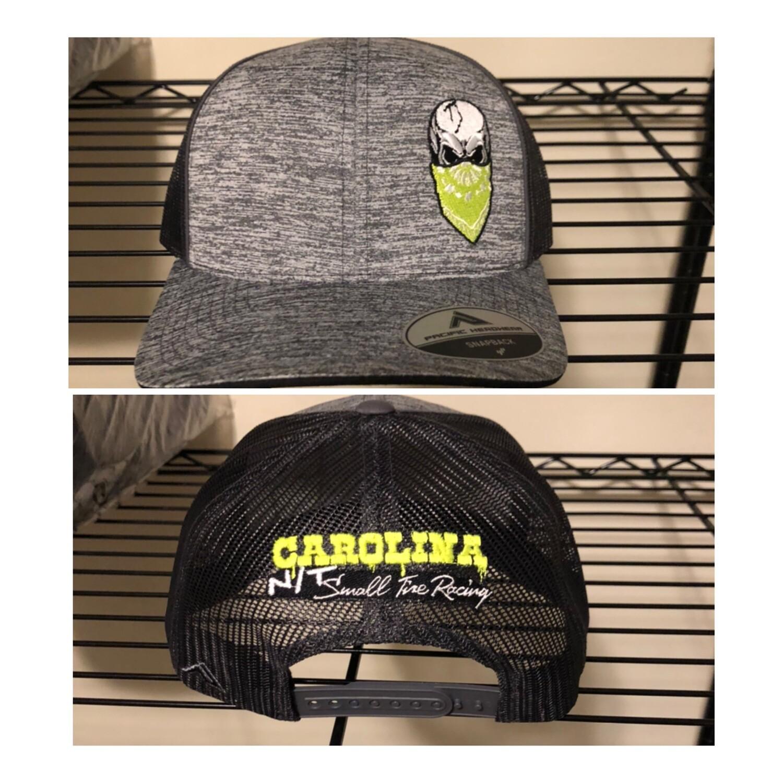 Grey /Neon Yellow Big Skull Trucker Hat