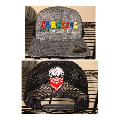 Grey/ Rainbow Letters Trucker Hat