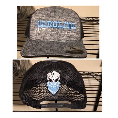 Grey/Carolina Blue letters Trucker Hats