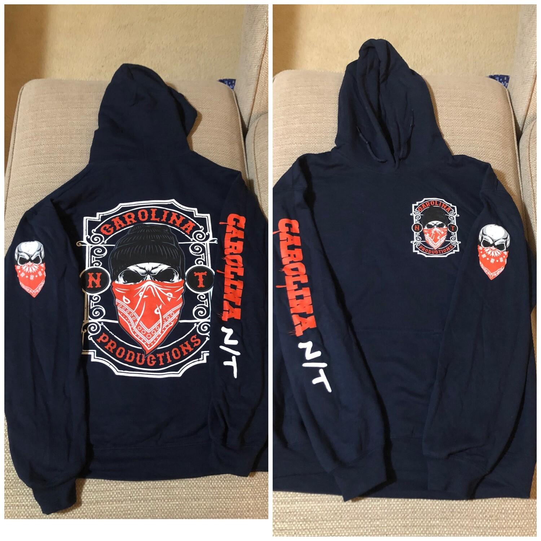 Beanie Bandit Navy/Red hoodie
