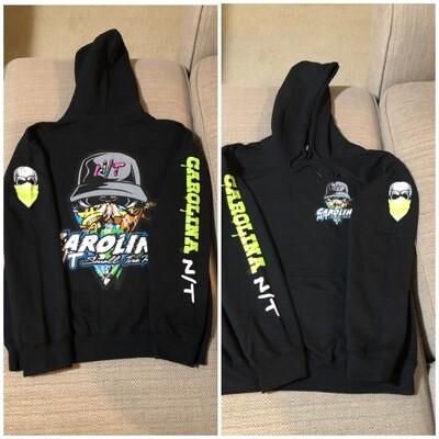 Graffiti Ball Cap Bandit Black hoodie