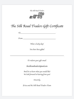 The Silk Road Traders Gift Certificate