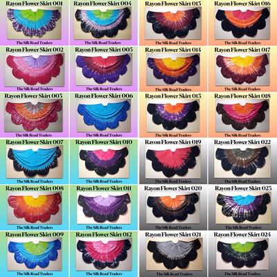 Rayon Flower Skirts