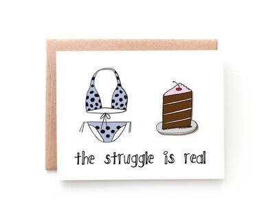 Cake Struggles Card