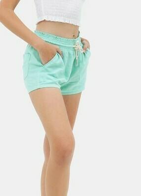 Mint Linen Shorts