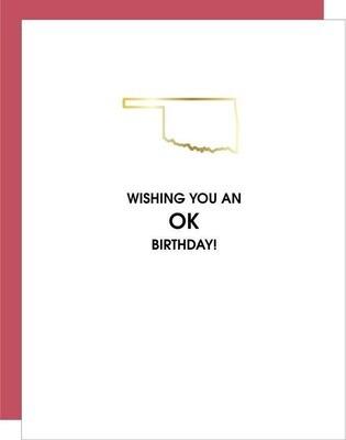 OK Birthday Card