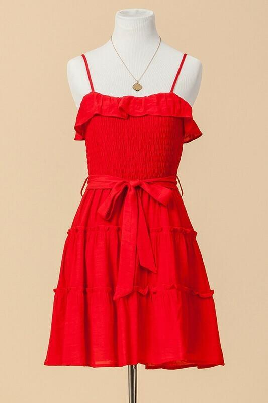 Drew Dress-Red