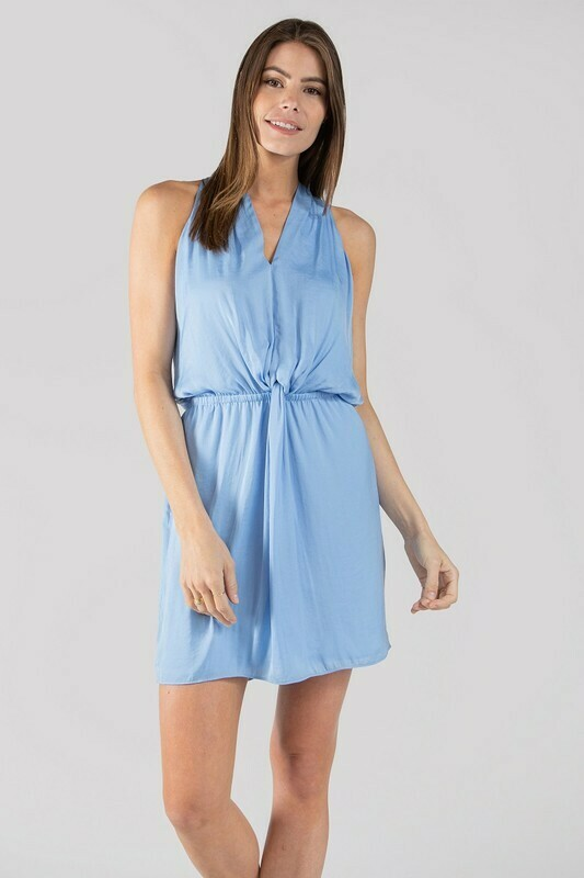 Halter Dress-Airy Blue