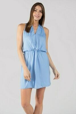 Halter Dress-Airy Blue