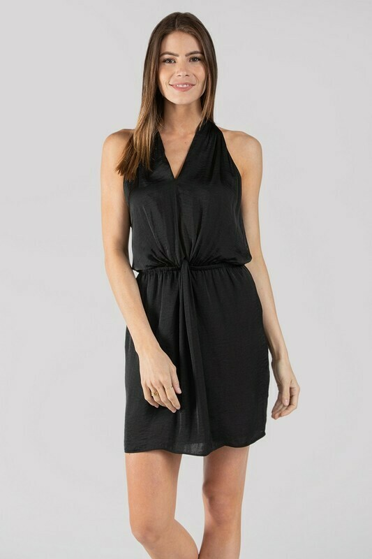 Halter Dress-Black
