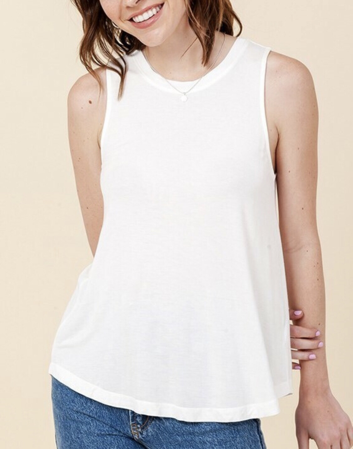 All Day Tank-Off White