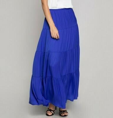Silky Maxi Skirt -Blue