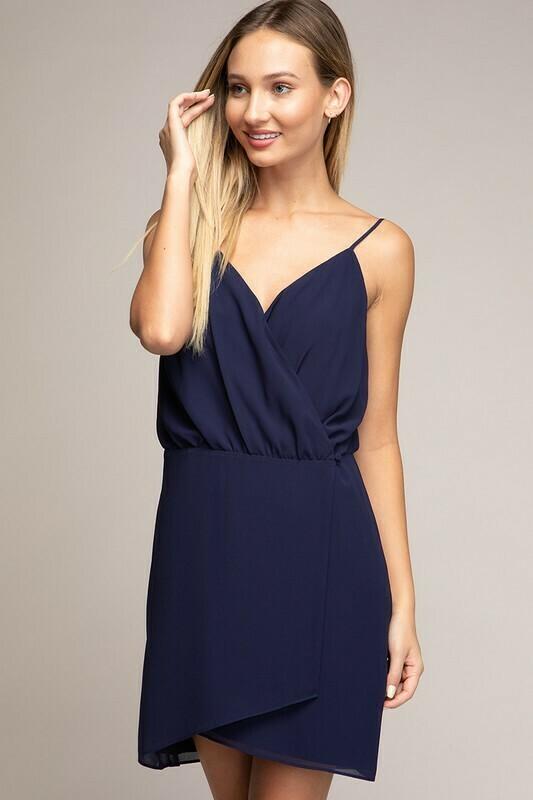 Wrap It Up Dress-Navy