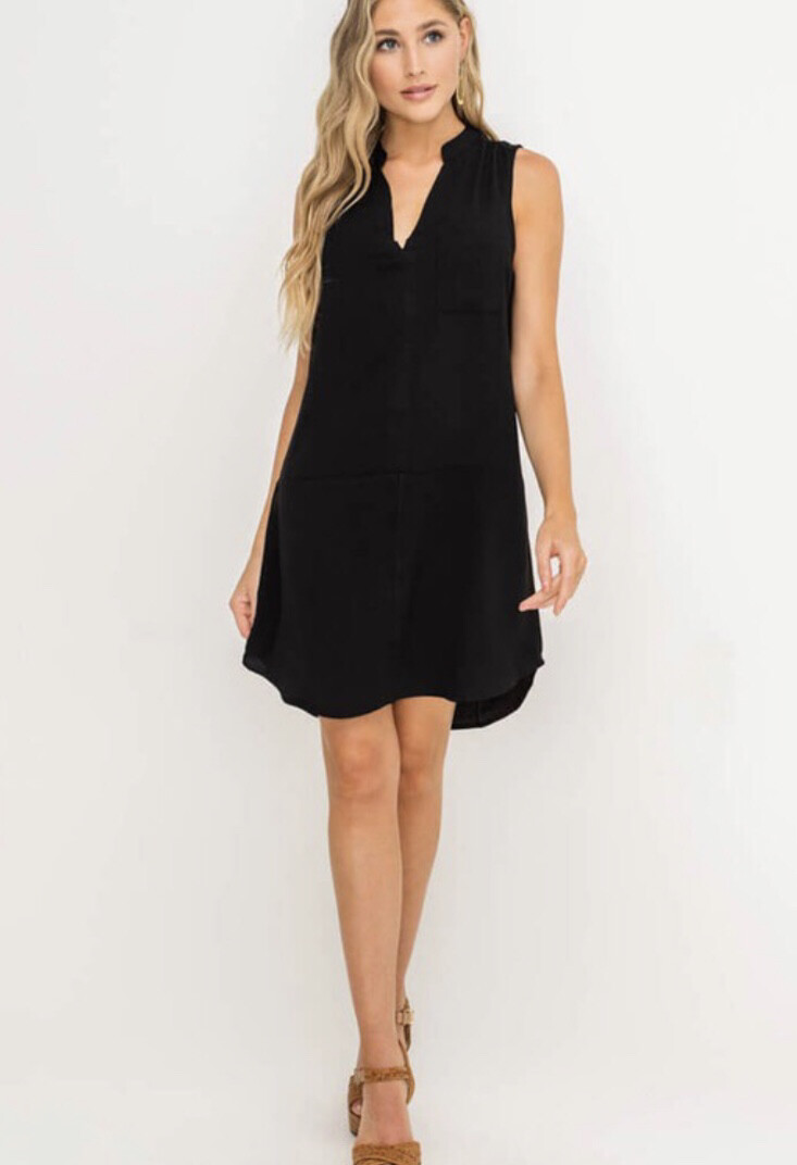 Back To Work Dress-Black