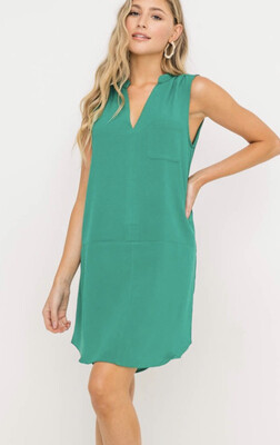 Back To Work Dress-green