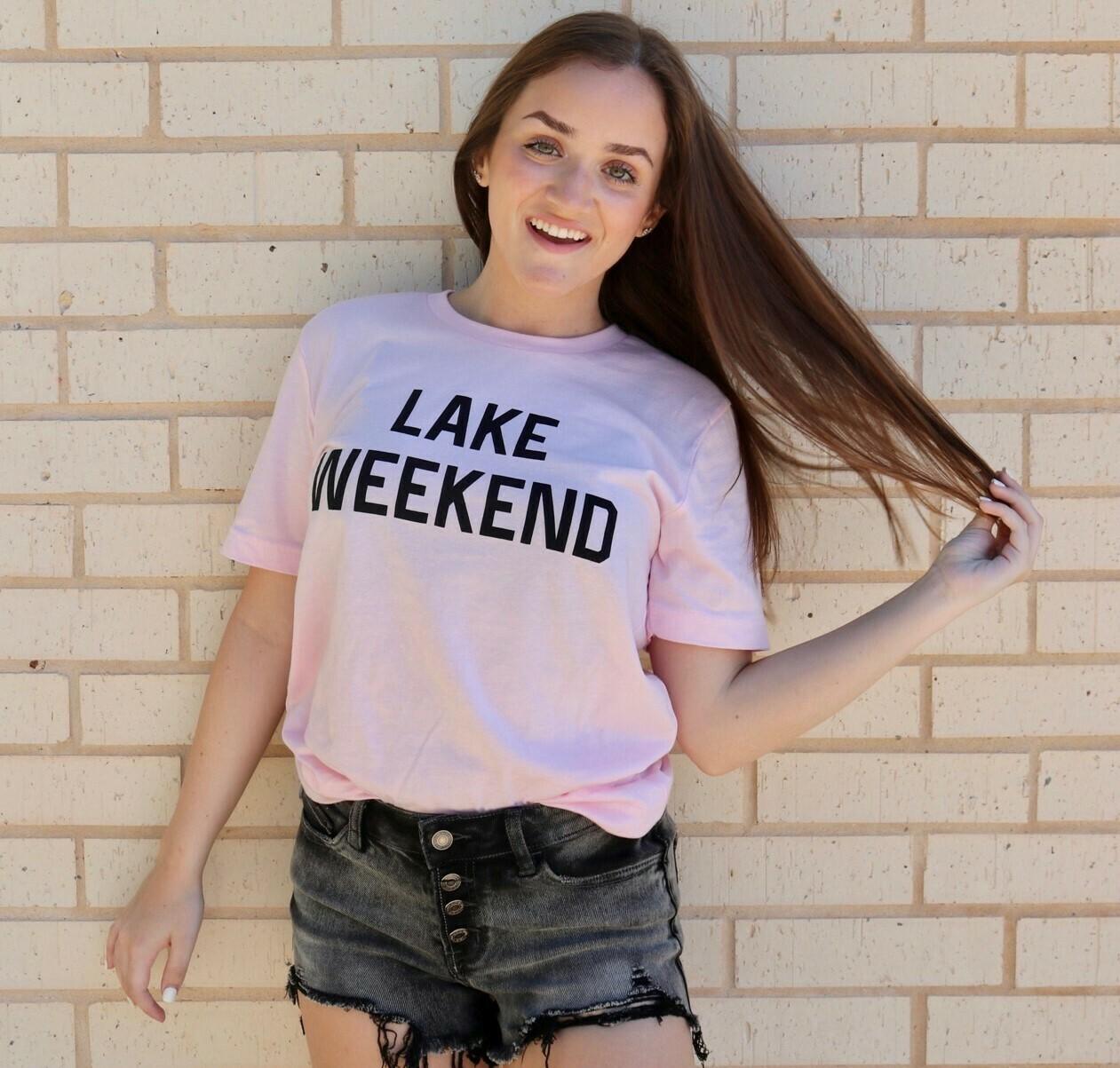Lake Weekend Tee-Pink