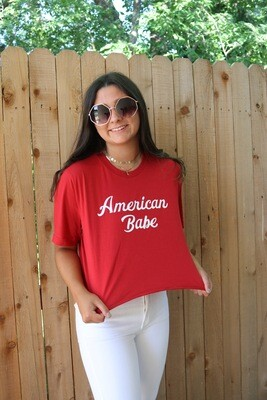 American Babe Tee-Red