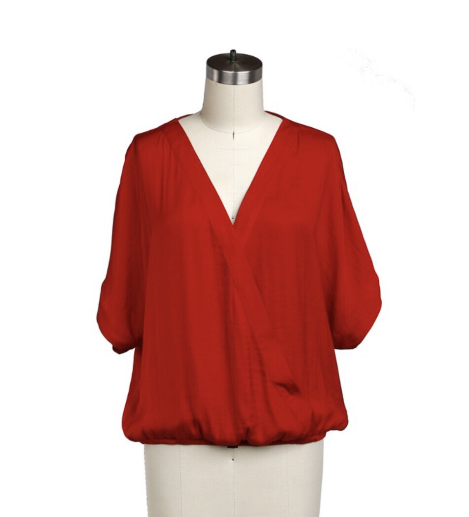 Andie Blouse-Red