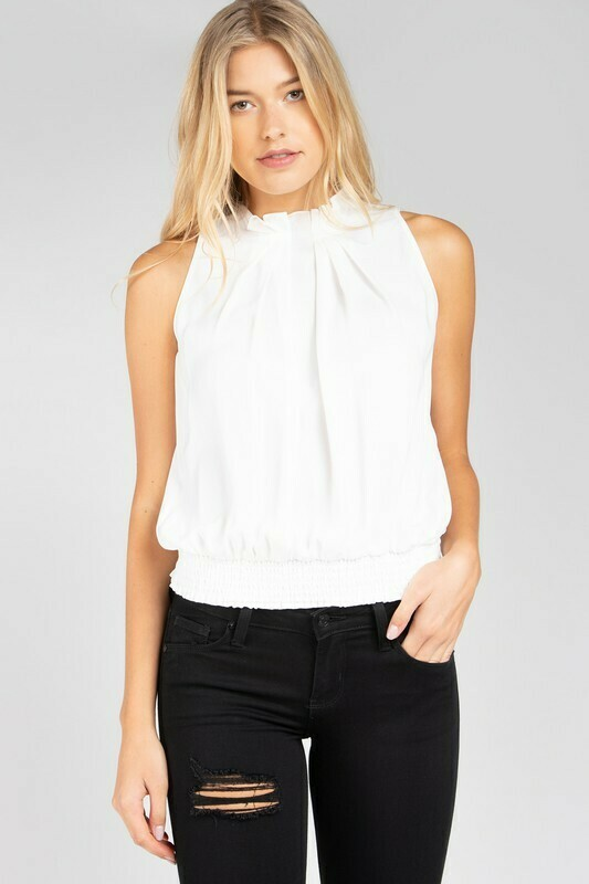 Ruffled Up Top-Off White
