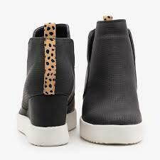 Jeannie Wedge Sneaker-Black