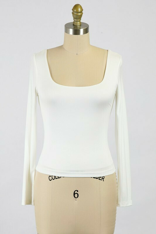Be Square Top-Ivory