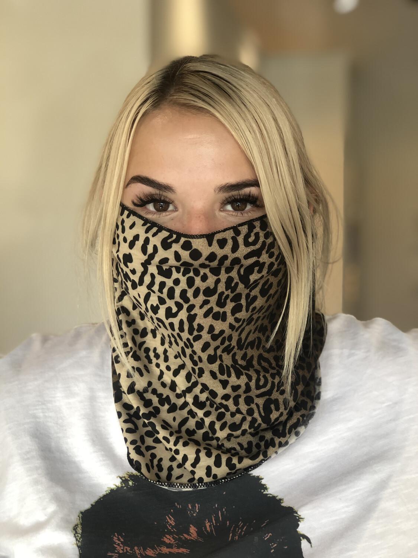 Cheetah Scarf Mask