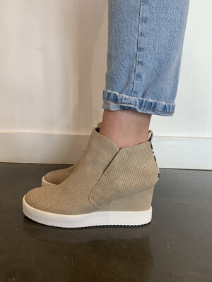 Jeannie Wedge Sneaker-Taupe