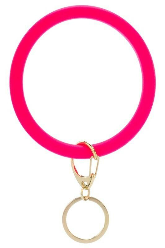 Bracelet Keychain-Fuchsia