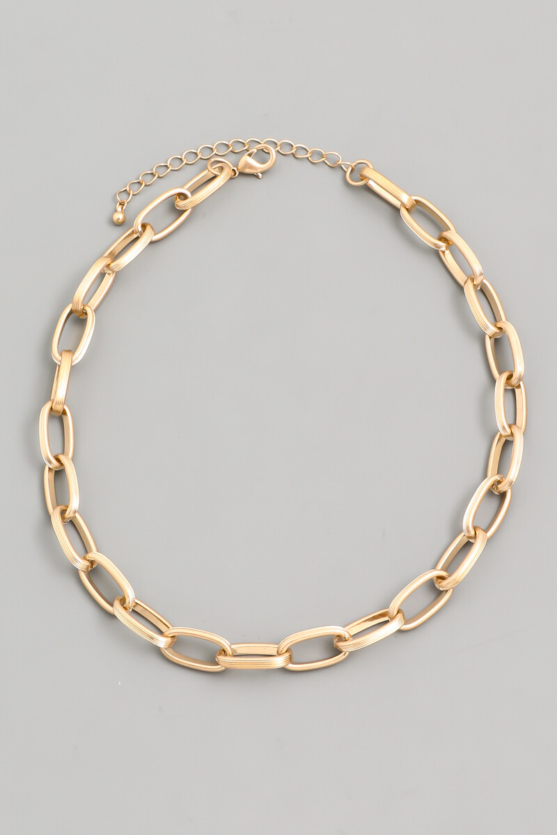 Cable Chain Link Necklace