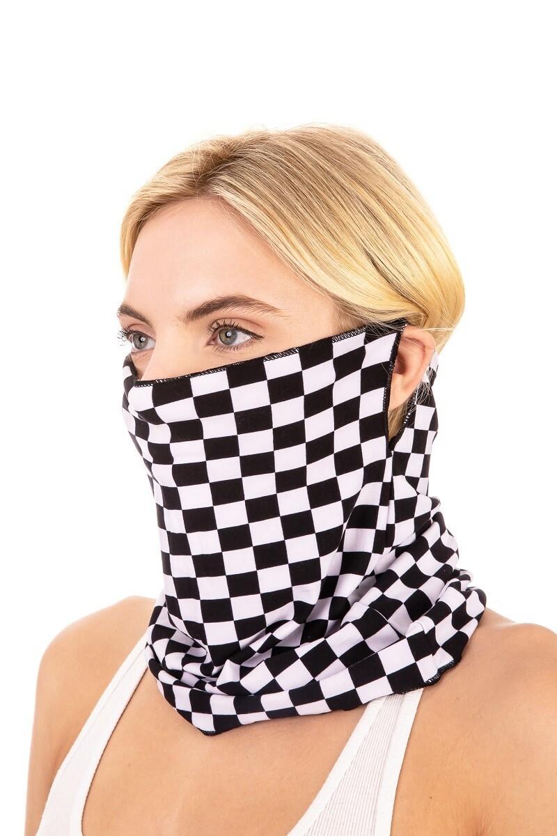 Checker Scarf Mask