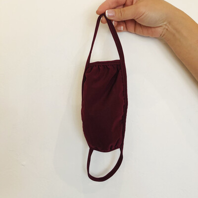 Burgundy Double Layer Mask