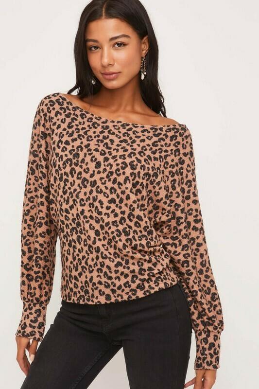Off Shoulder Cheetah