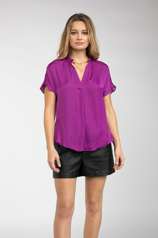 Silky Blouse-Mulberry