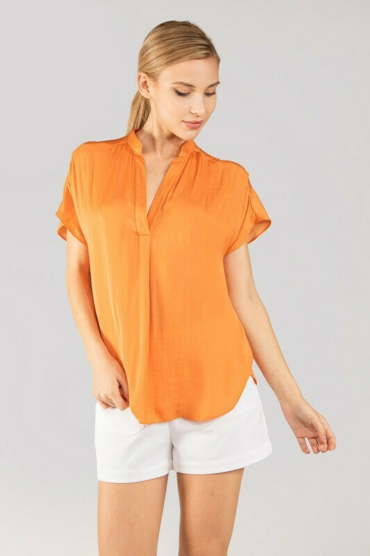 Silky Blouse-Orange
