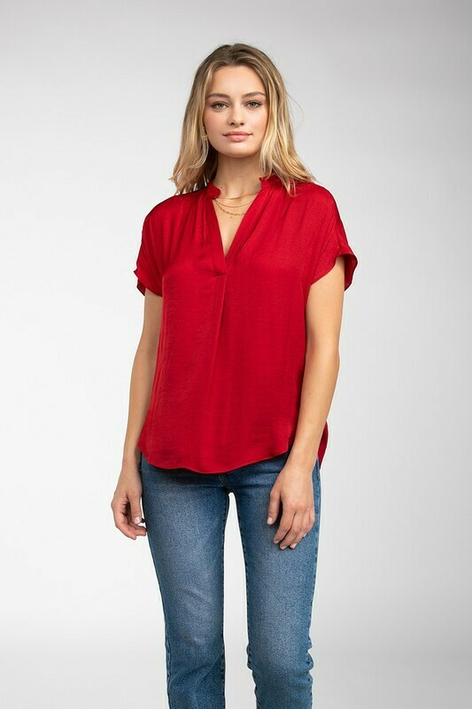 Silky Blouse-Ruby