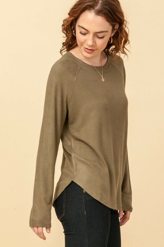 Stay Home Tunic-Olive