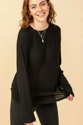 Stay Home Tunic-Black