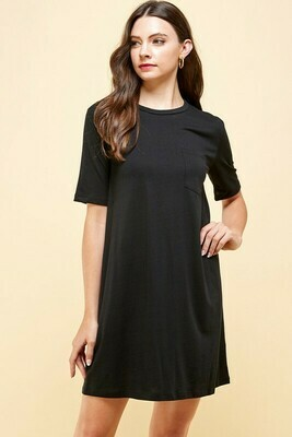 Tee Time Dress-Black