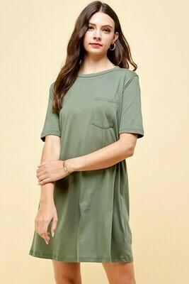 Tee Time Dress-Olive