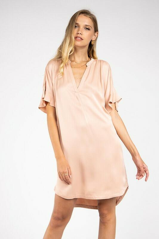 Deighton Dress-Pink