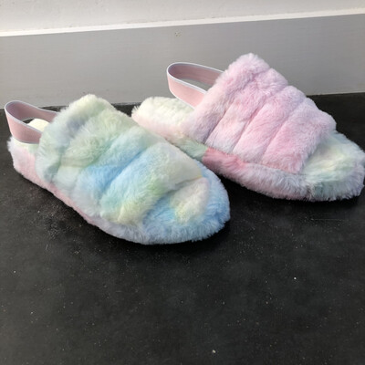 Fluffy Slipper-Tie Dye