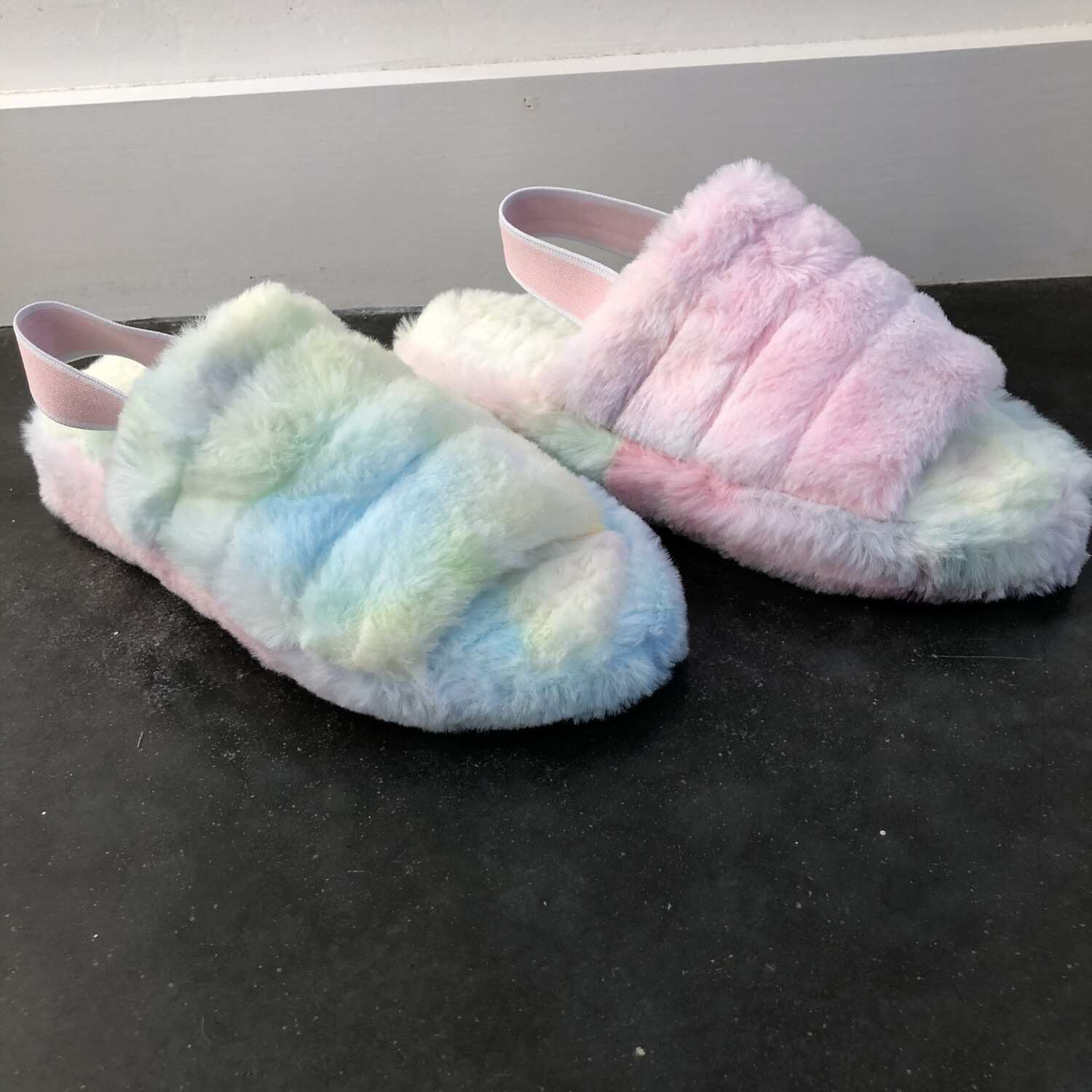 Fluffy Slipper-Tie Dye