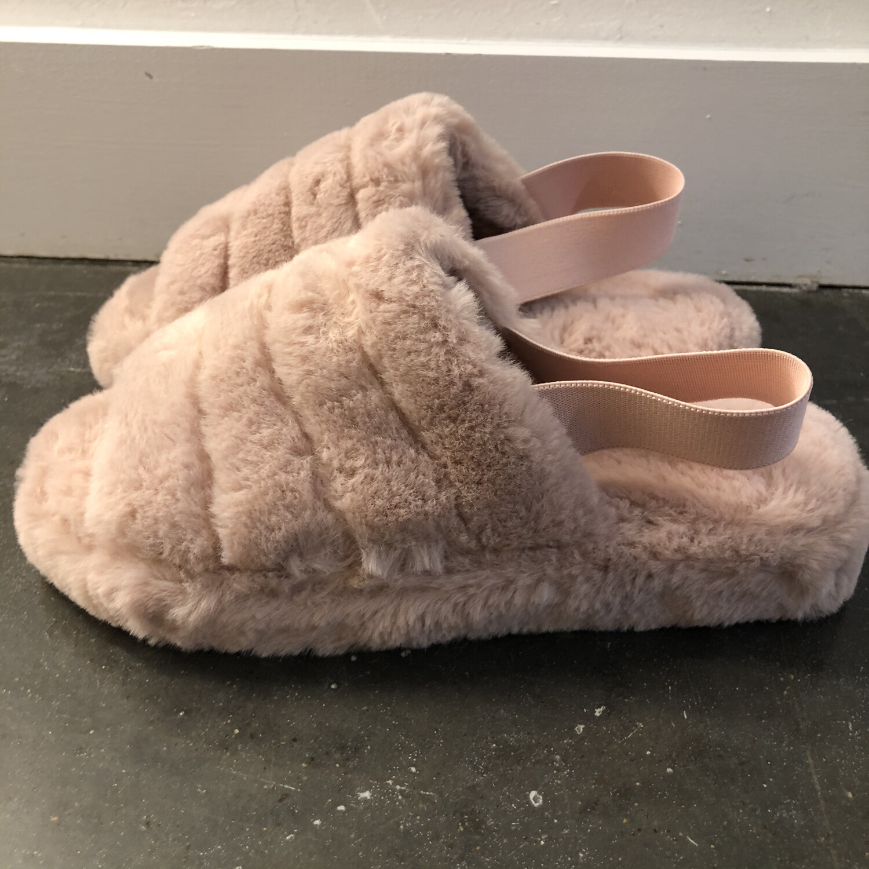 Fluffy Slipper-Mauve