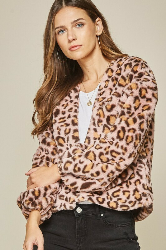 Animal Attraction Jacket-Blush