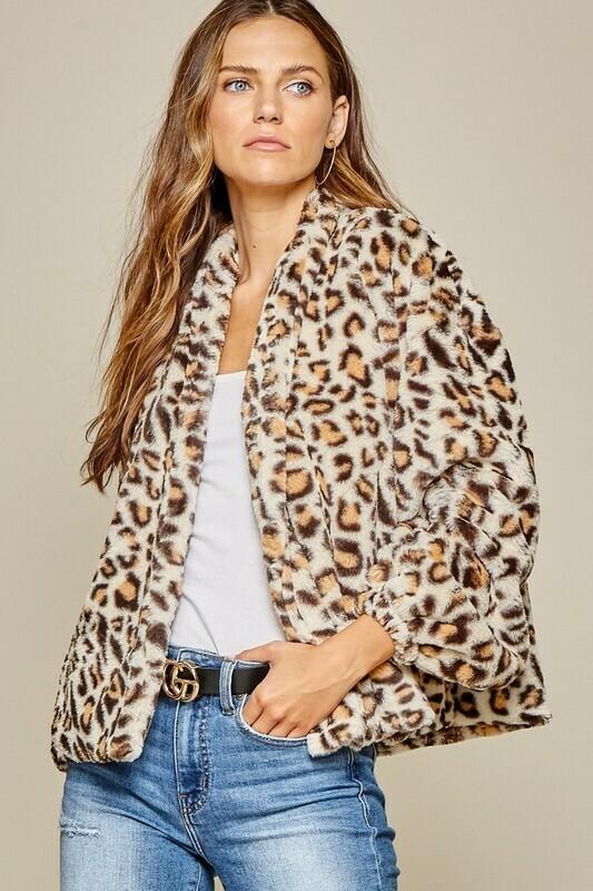 Animal Attraction Jacket-Taupe