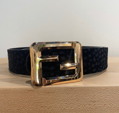 Double F Dalmation Belt-Black