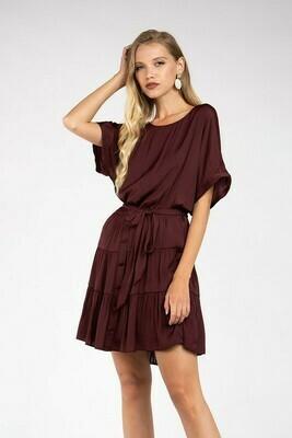 Festive Dress-Merlot