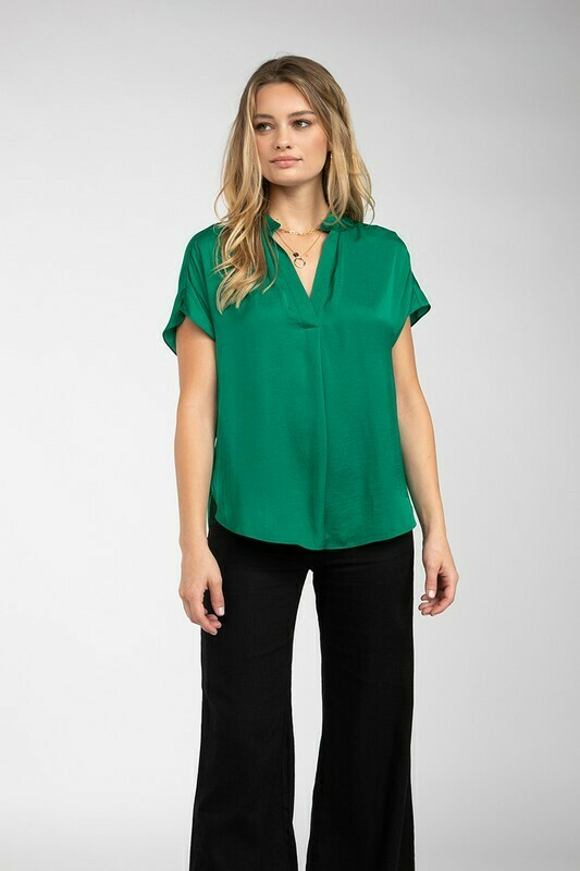 Silky Blouse-Jewel Green